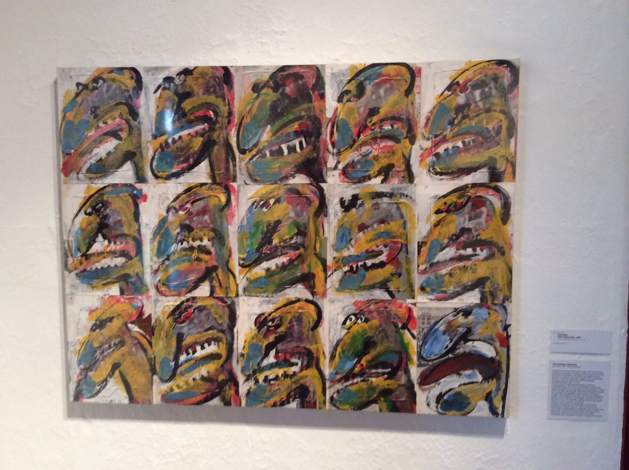 SCHWANKE  Série Linguarudos, 1986  Técnica mista sobre papel  90,5 x 119 cm  Acervo do Museu de Arte de Joinville