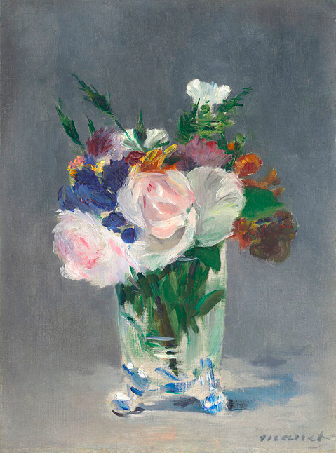 Flores em vaso de cristal, 1882