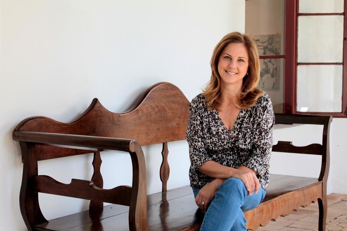 Gabriela Loyola, fundadora da Picta, no Museu de Arte de Joinville