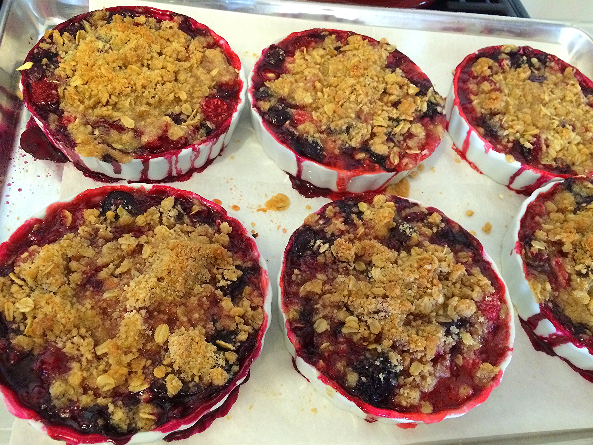 Maria's Crumble... all from Long Island berries ... today, w/ a scoop of good icecream