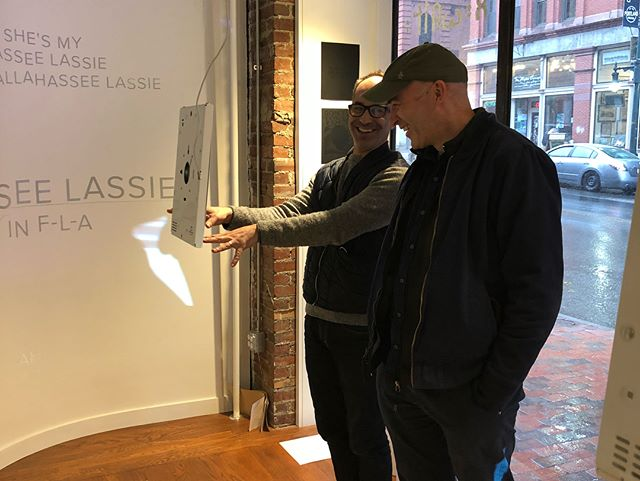 ReWrite Workshop with Peter Hall and Mark Zurolo. Thank you for your time, we all had a blast! Check out our work displayed in the Bob Crew Gallery window on Congress St. @peter.hall @mecagd @mecaart @intertopia @uconngraphicdesign