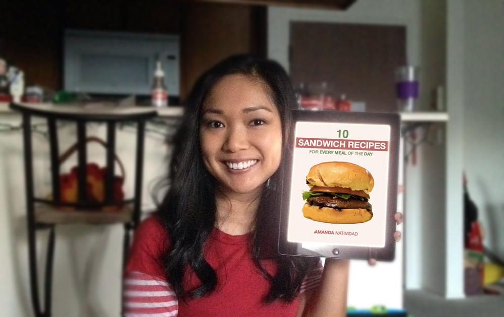 Amanda and cookbook