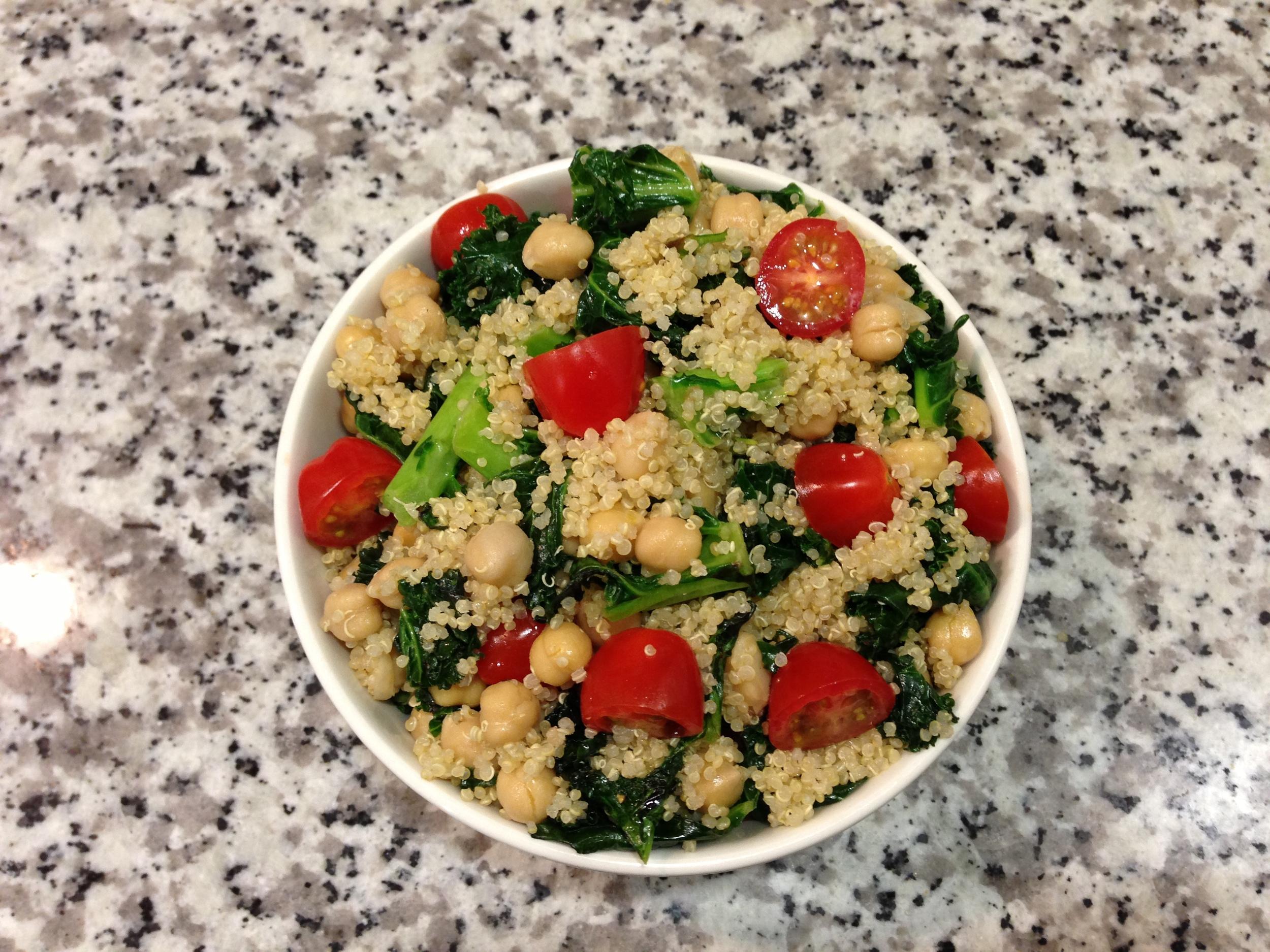 Quinoa, Kale and Chickpea Salad
