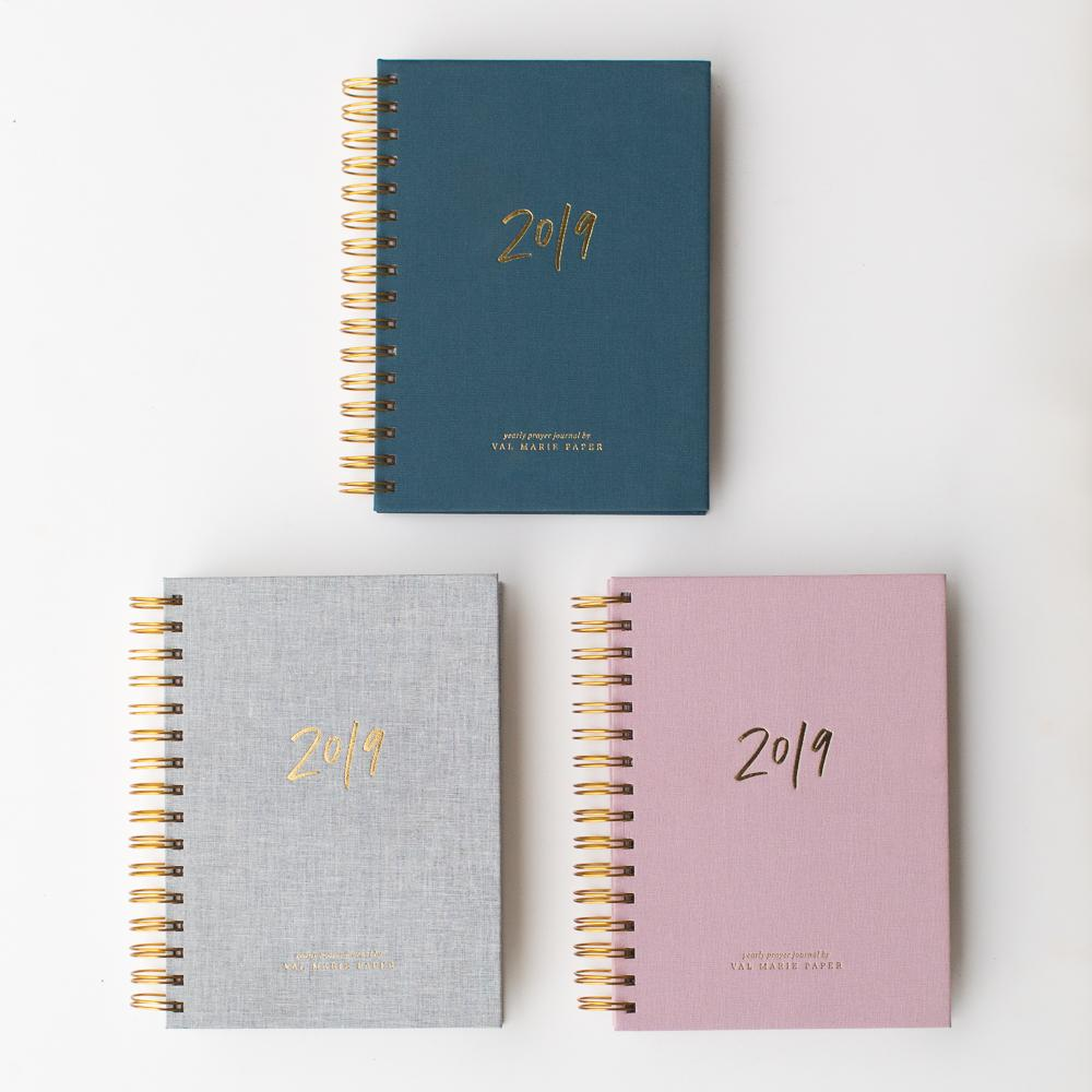 Project:  Cover Design for the 2019 Prayer Journal   Client:  Val Marie Paper   shop.valmariepaper.com/collections/prayer