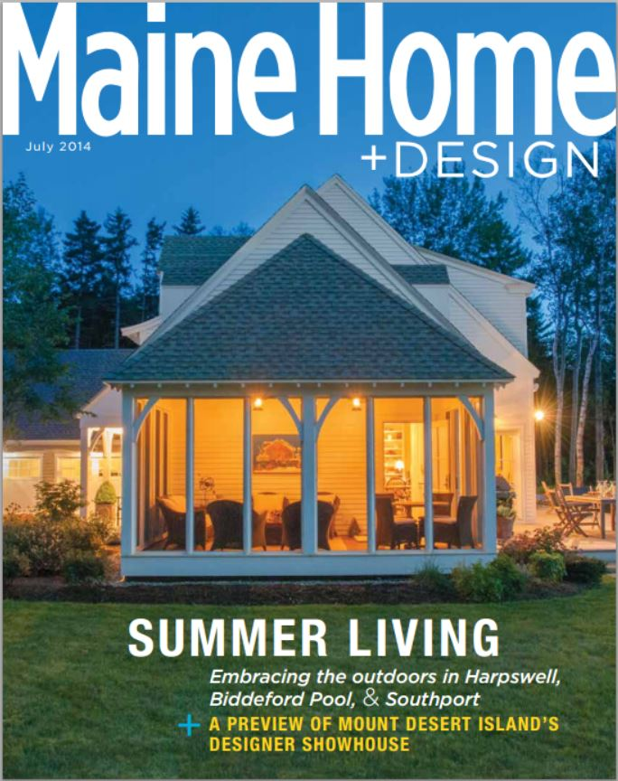 Nautical Chart Wallpaper features a mural found in  Maine Home + Design' s July 2014 Issue
