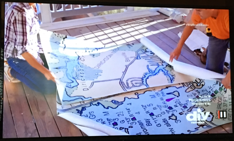 Marnie and her brother open the Nautical Chart Mural