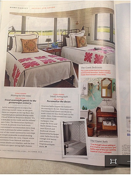 We were excited to have our work featured in Southern Living Magazine.