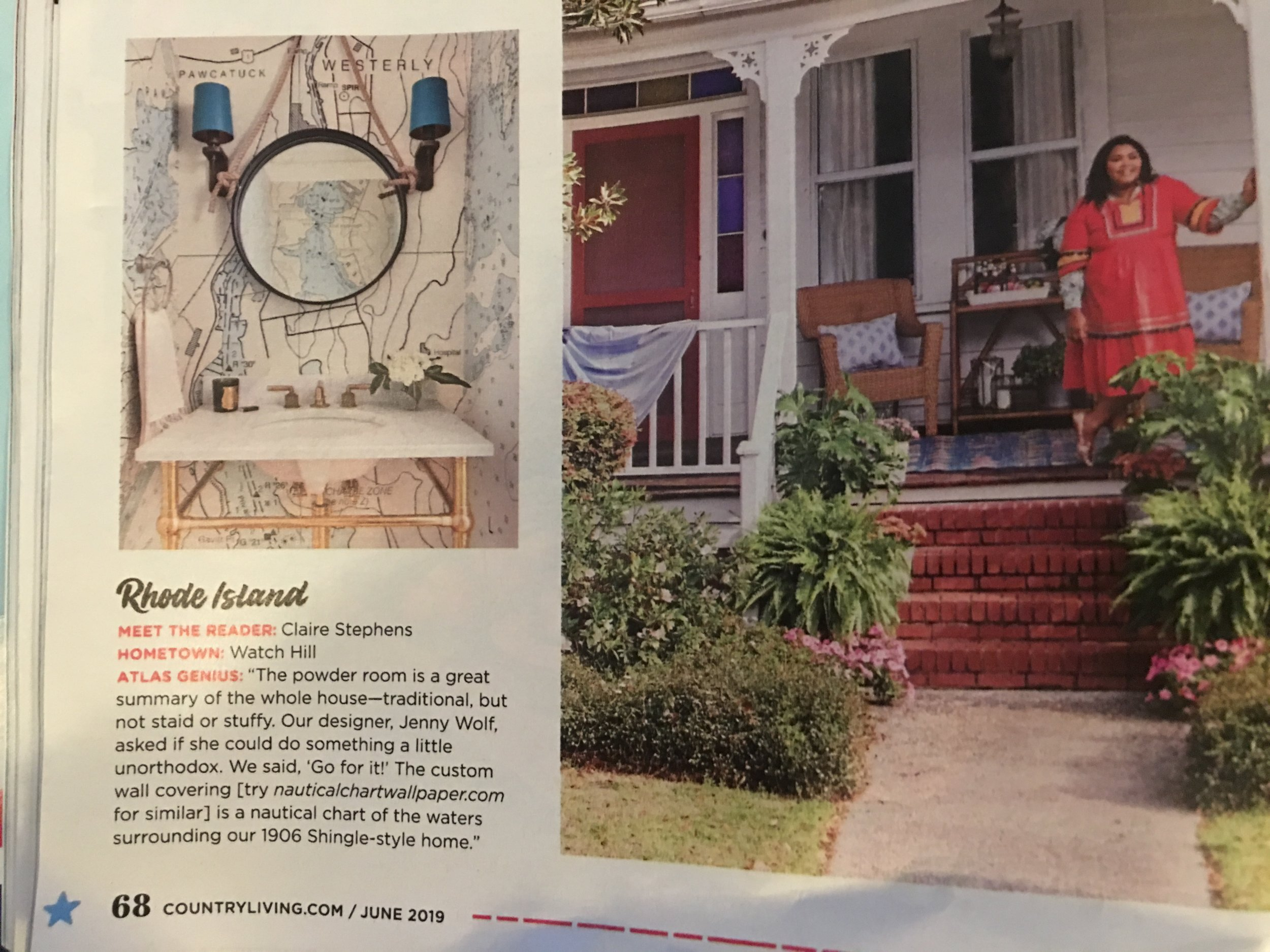 We found ourselves in the June issue of Country Living magazine. Once again our client did a super job. Looks great. Thanks for the credit.