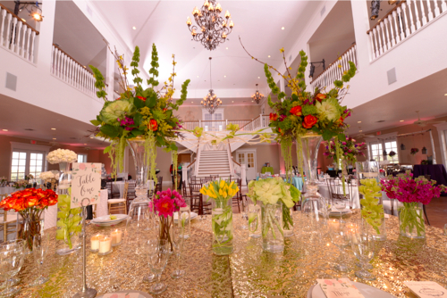 Table scape designed by Kristin Voss of  Kendall Plantation . Photo courtesy of  Dos Kiwis Photography