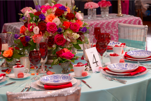 Table scape designed by Lisa Morales of  Haute Weddings . Photo courtesy of  Limelight San Antonio