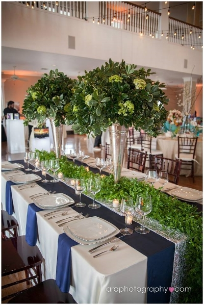 Hill Country Chic table scape designed by Kendall Plantation.    Blume Haus   provided the floral.