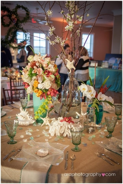 Winner of the Table Scape Contest -   Perfect Beginnings Destination Weddings   Floral provided by  The Elegant Bee .