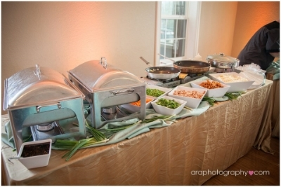 Anne Marie's Catering   showcased their signature dishes as well as some Asian flaire cooking up some custom fried rice