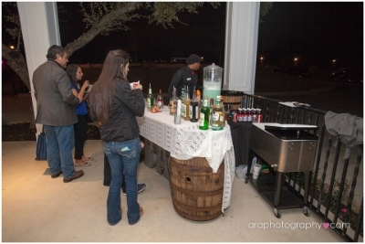 Bartenders4you   with their whiskey barrel bar serving up the best drinks in town.