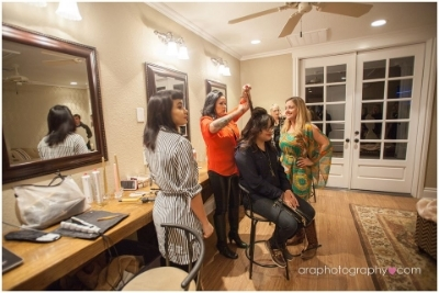 CHAIRish The Day   felt right at home providing hair trials in the bridal suite.