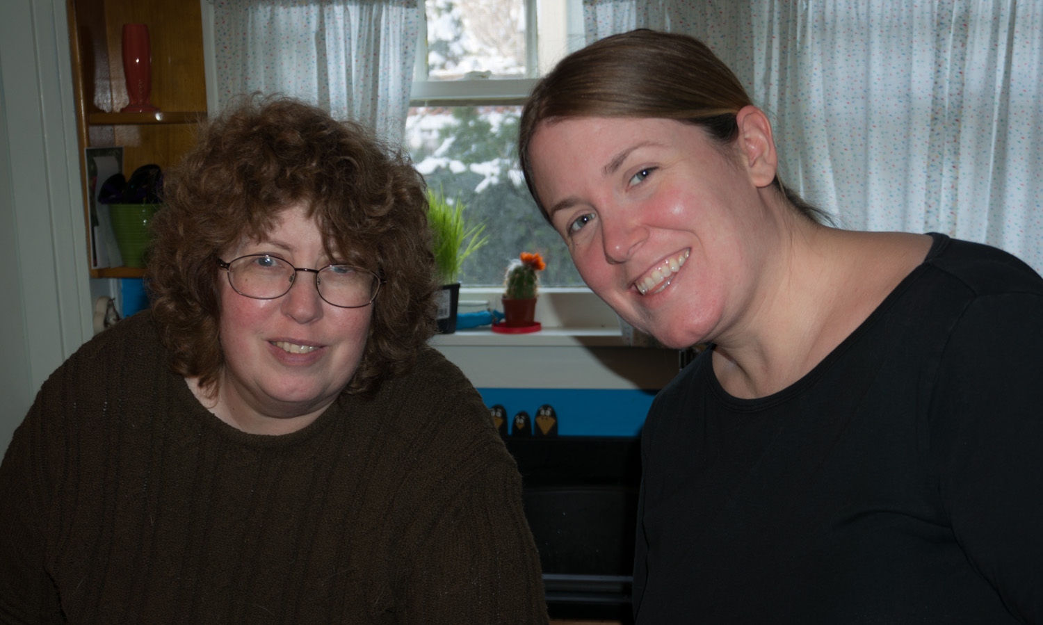 Aunt Kathy and Beth smile for the camera.