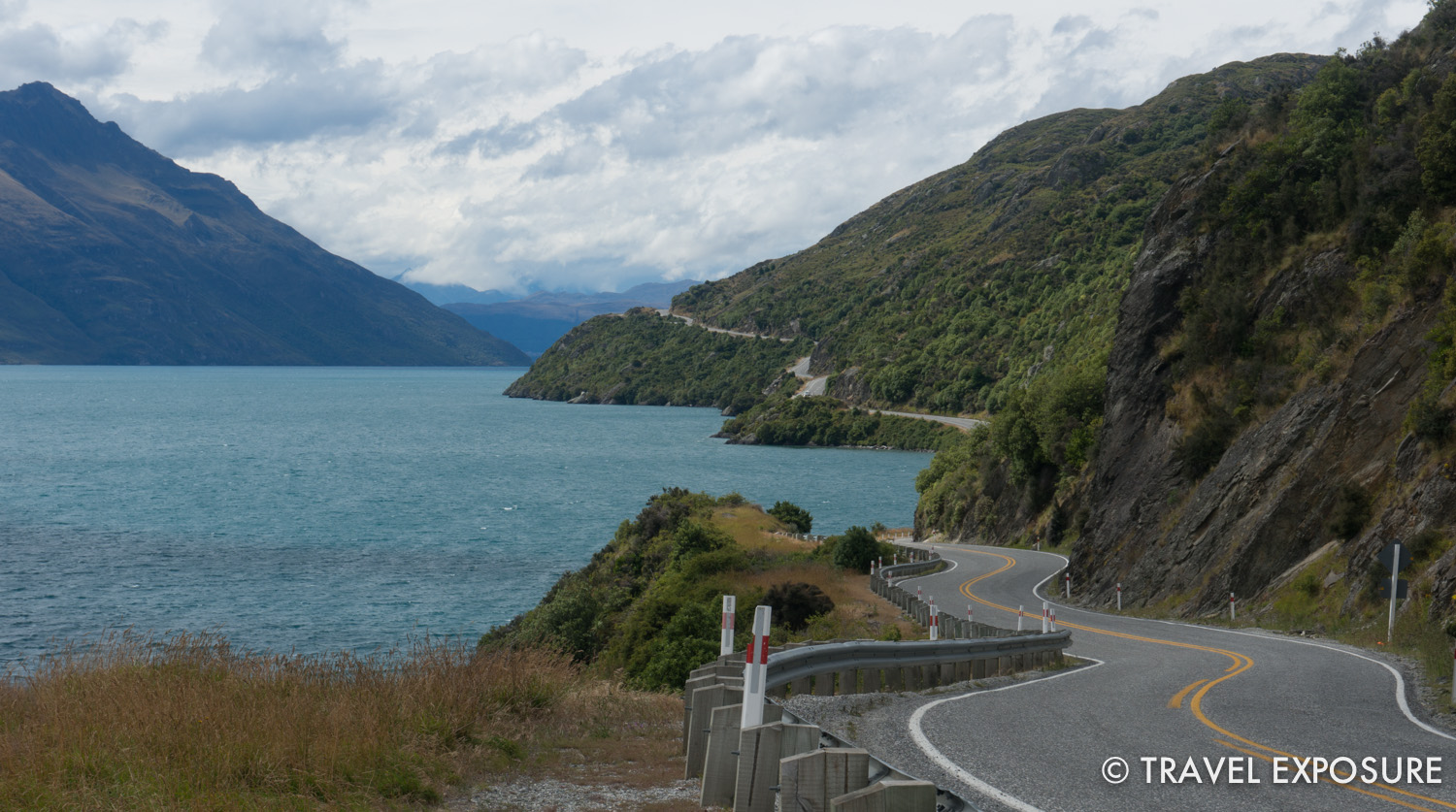 Roadside scenery on the way to Queenstown