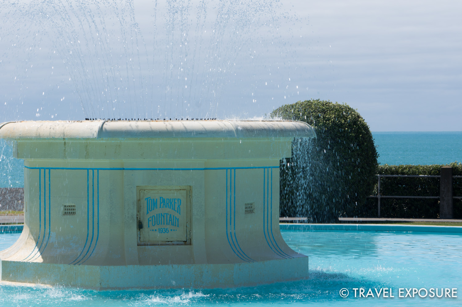 Fountain at Napier, the world's most consistently art deco city