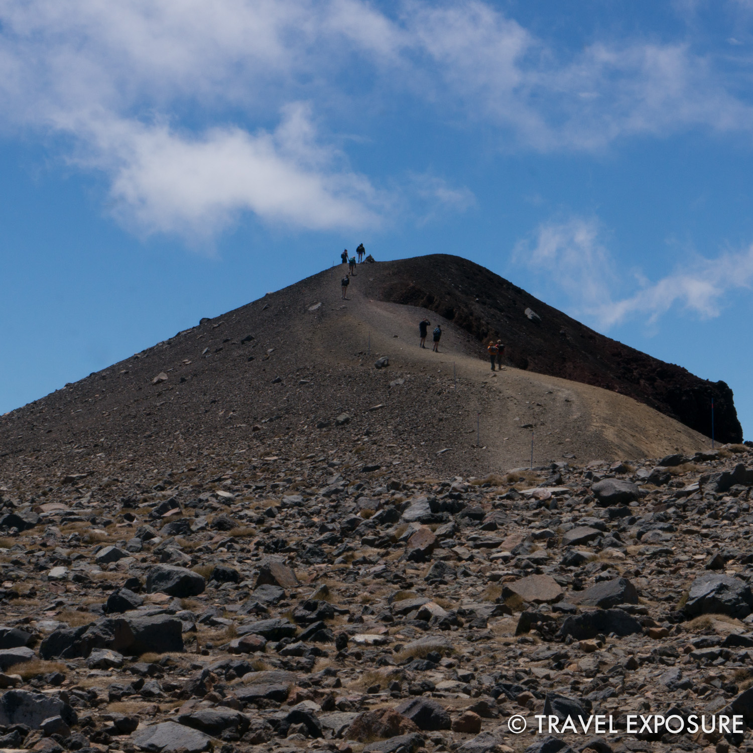 Tongariro Alpine Crossing Hike - almost to the very top here...