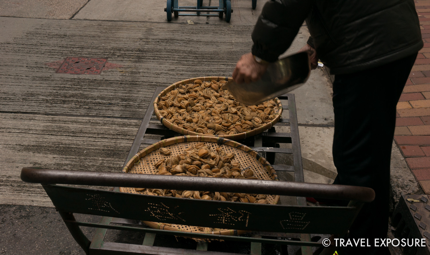 Dried seafood, probably scallops
