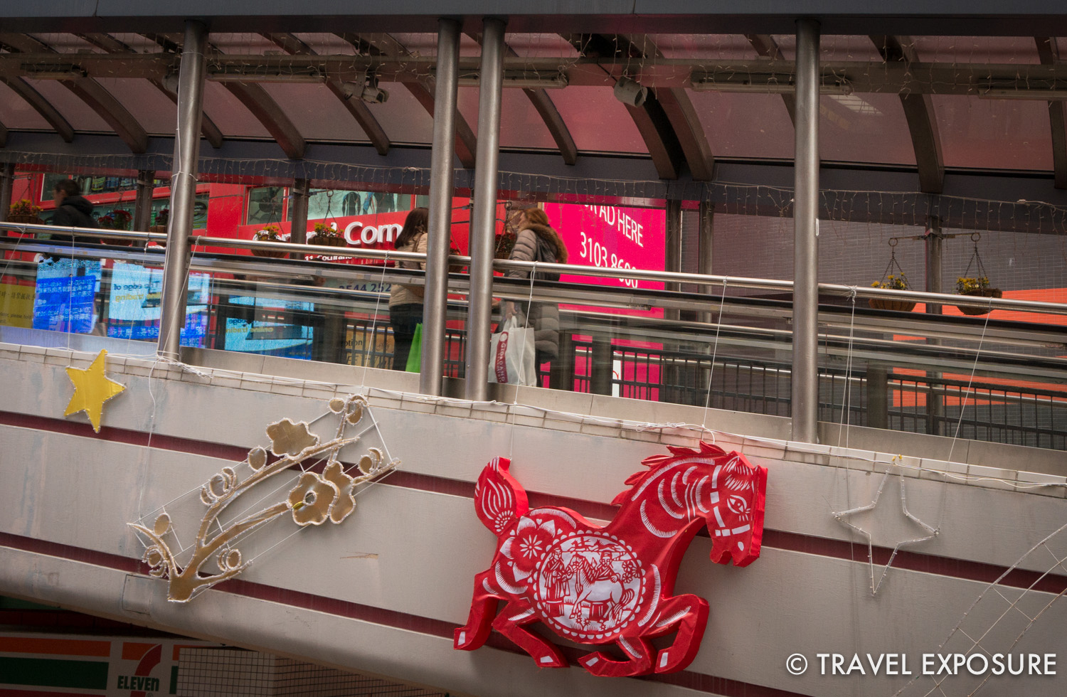 Decorations around the city celebrating the Year of the Horse