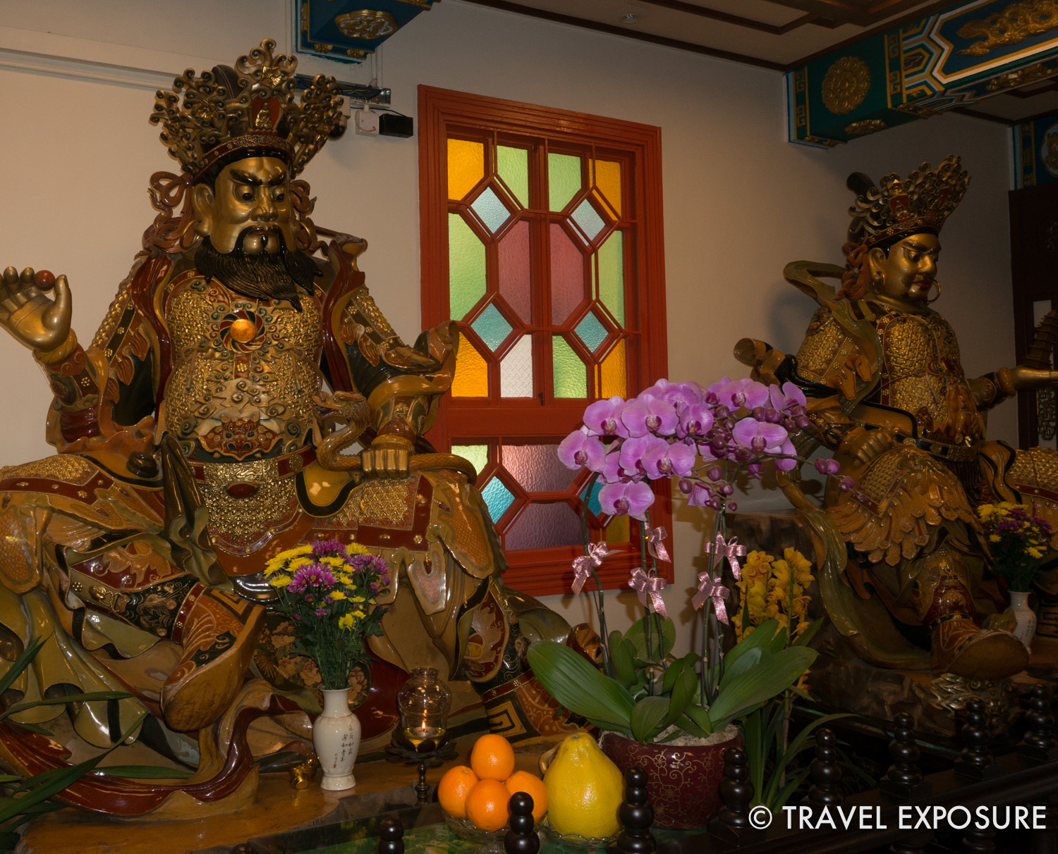 Inside the Po Lin monastery in Ngong Ping