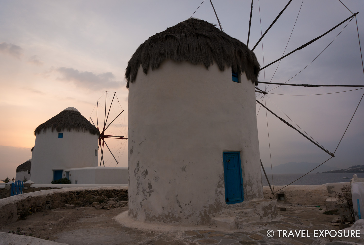 WEEK OF APRIL 7 Sixteenth century windmills, once used to grind wheat, sit on a hilltop in Mykonos, Greece.