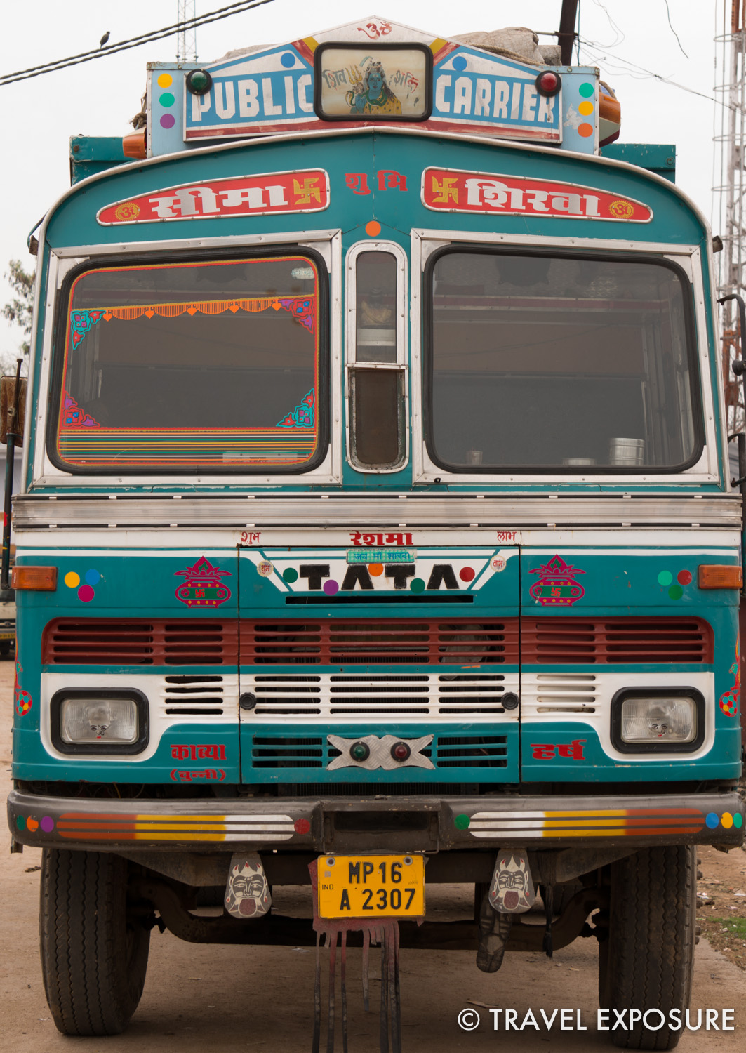 One of many of the colorfully decorated trucks in India