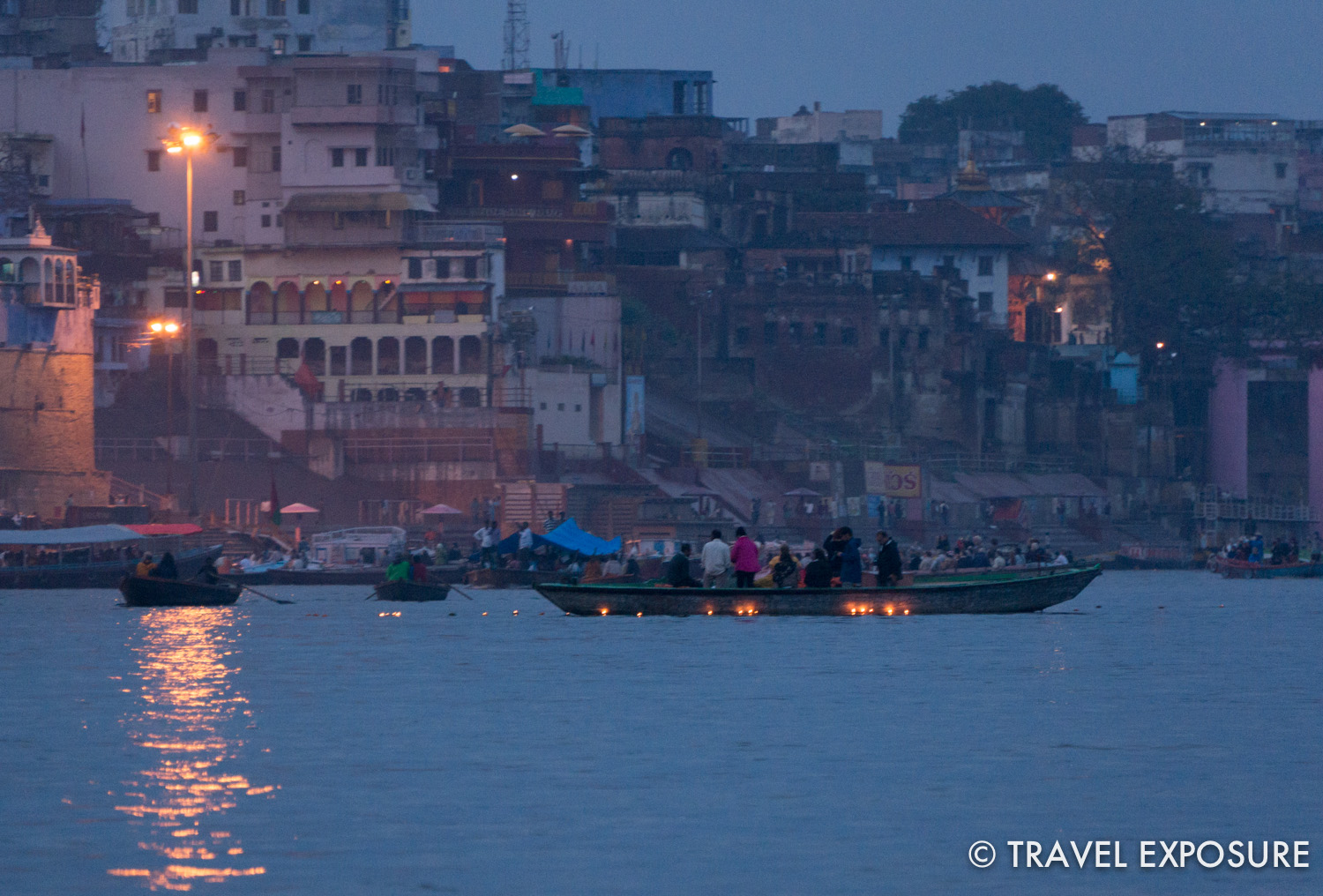 On the Ganges river in Varanasi