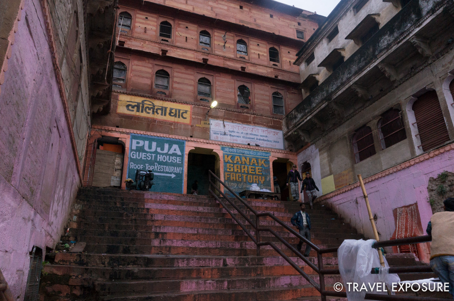 Walking around the ghats in Varanasi