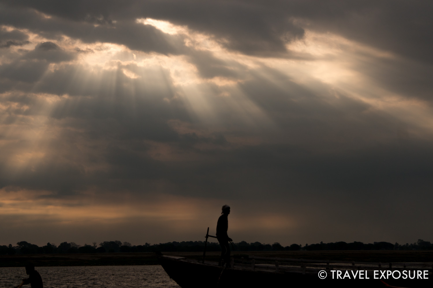 Sunrise on the Ganges river in Varanasi