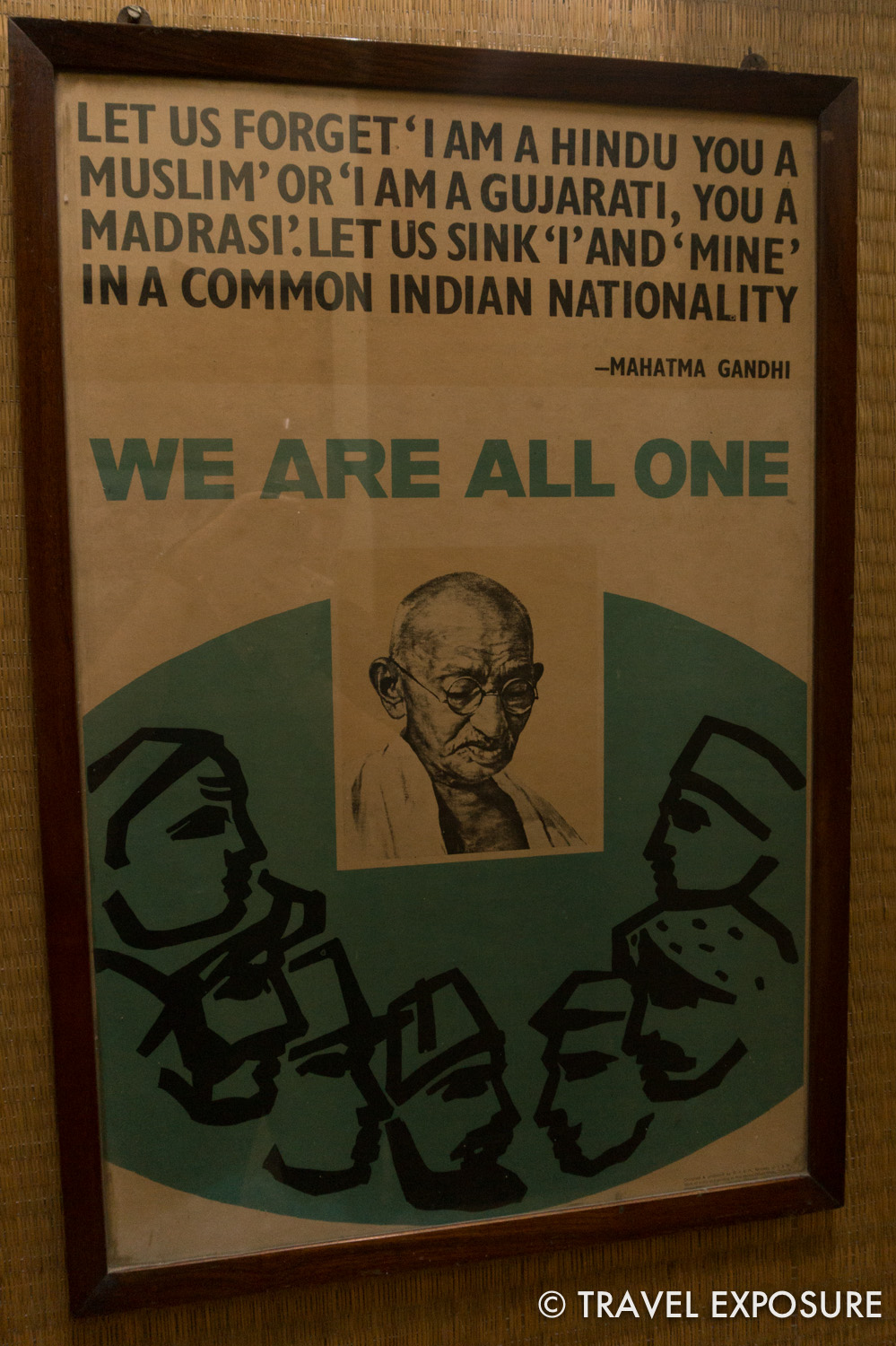 At the Gandhi Museum in Mumbai