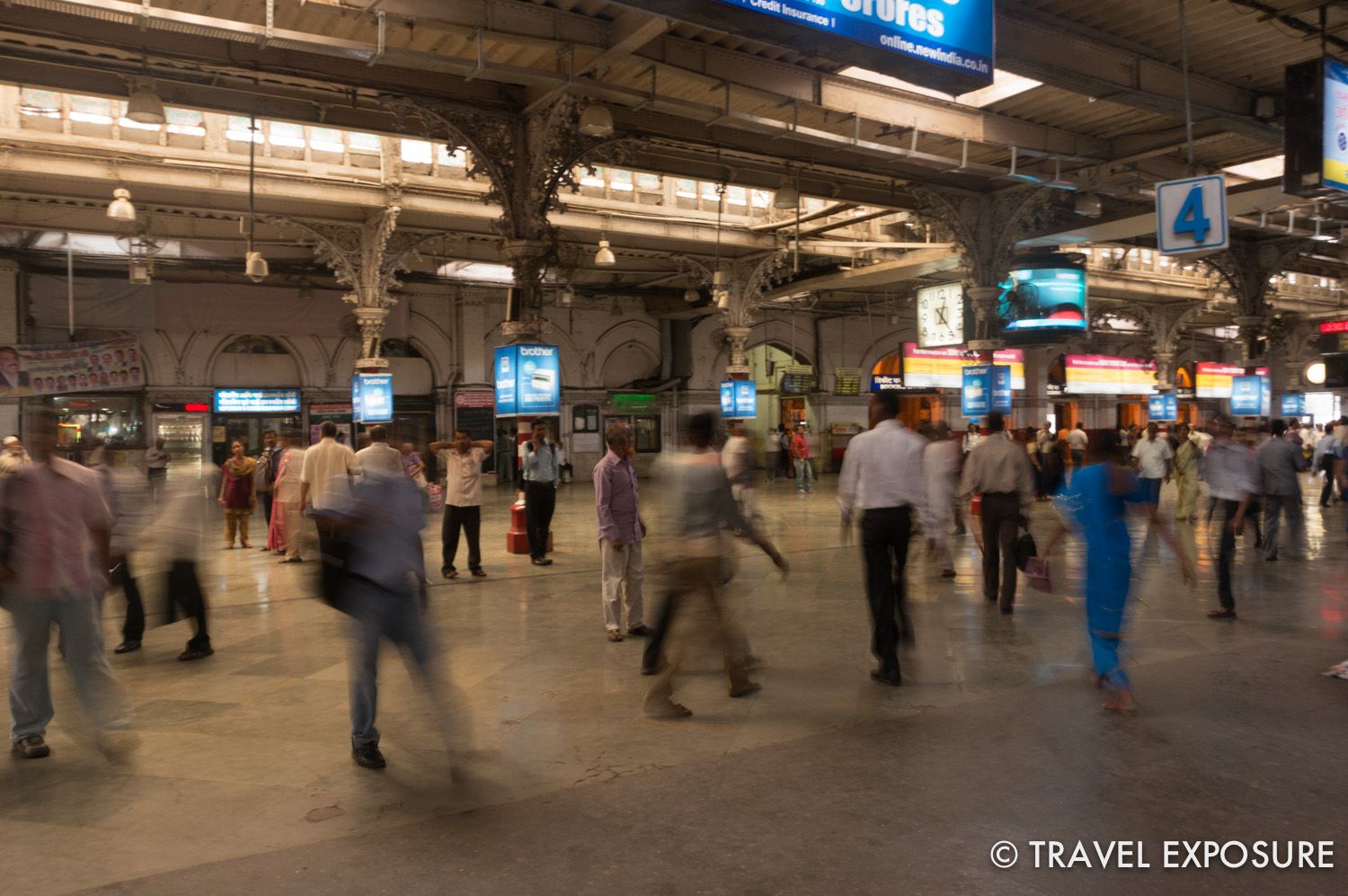 Inside the Chhatrapati Shivaji Terminus, formerly known as Victoria Terminus Station, in Mumbai