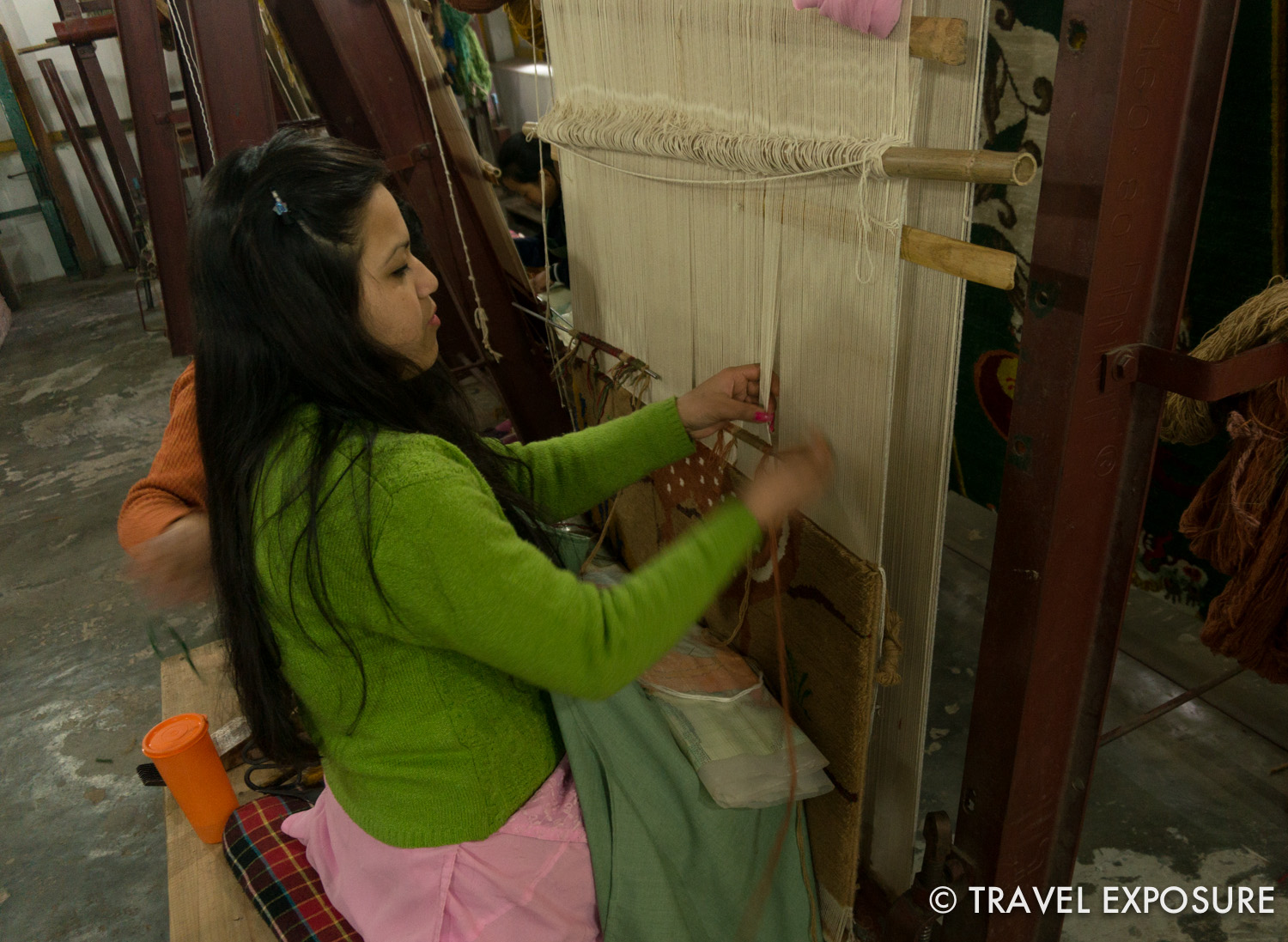 Rug weaving in Gangtok, Sikkim