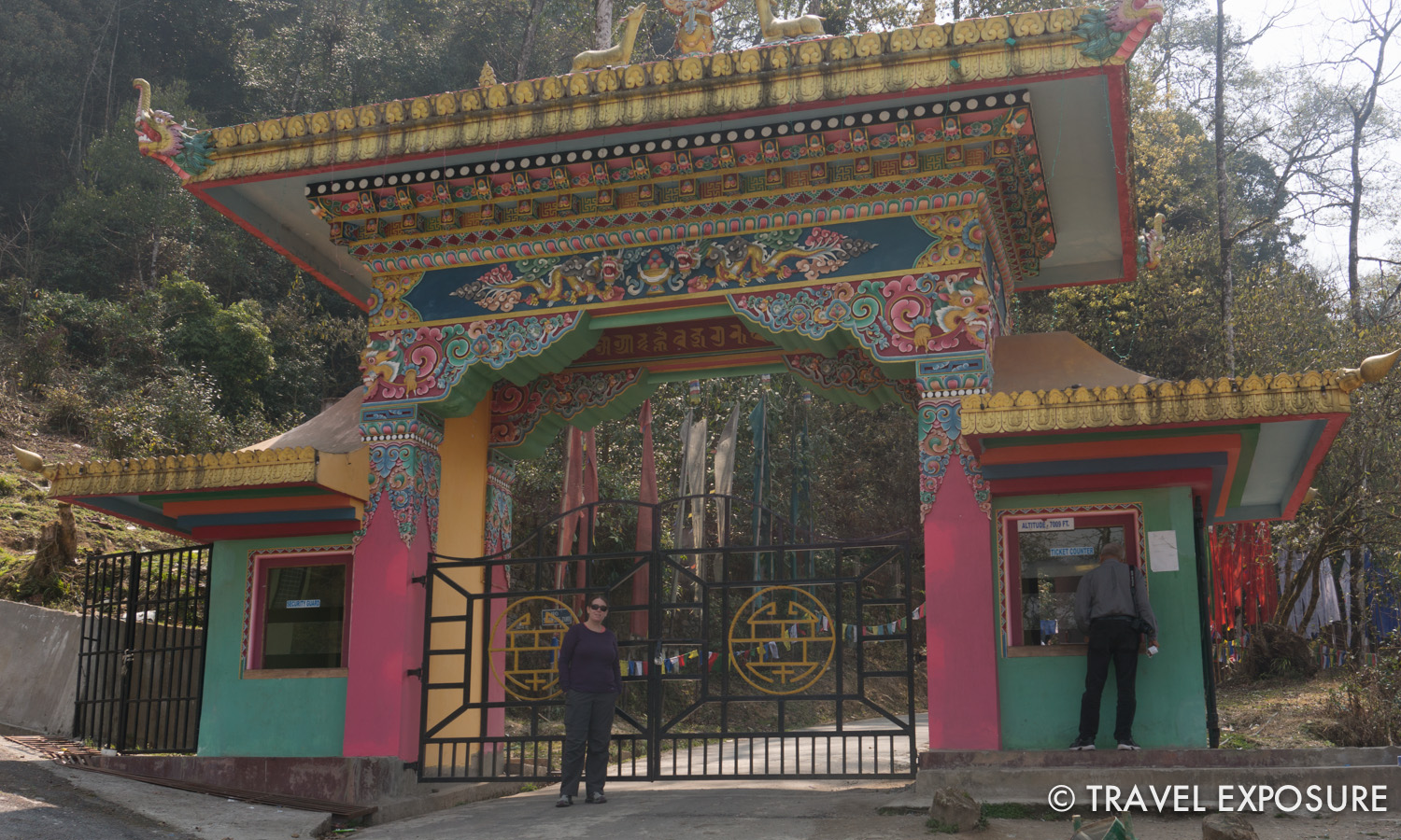 Entrance to the Samdruptse Temple in Namchi, Sikkim