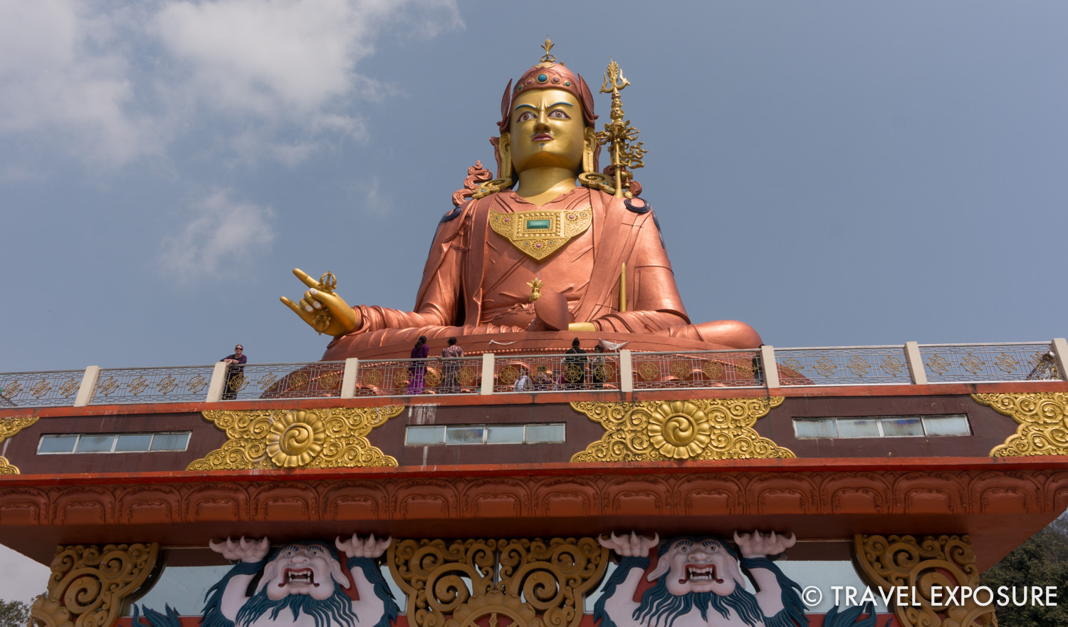 Statue of Guru Rinpoche, the patron saint of Sikkim at Samdruptse Temple