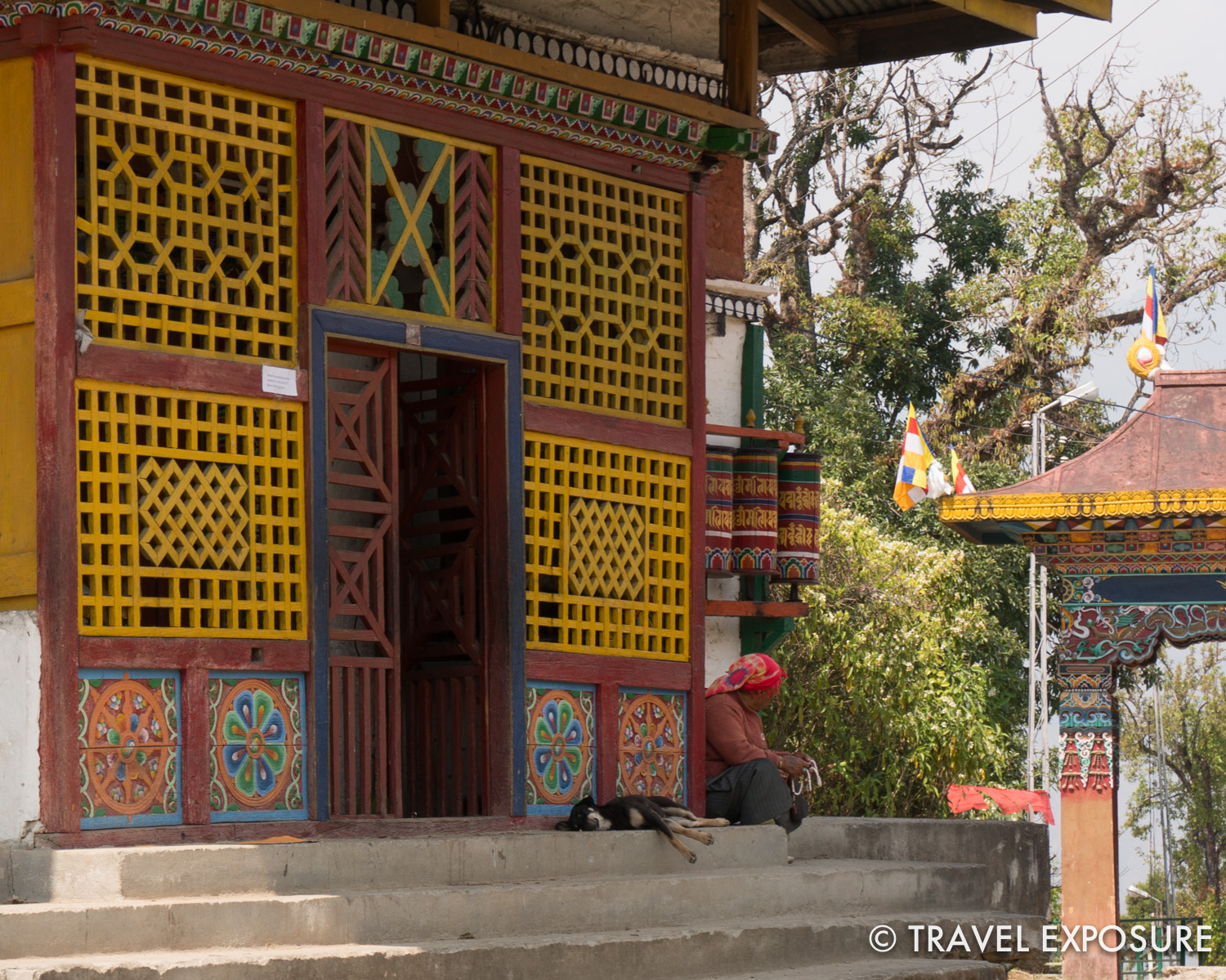 At   Tashiding Monastery in Sikkim