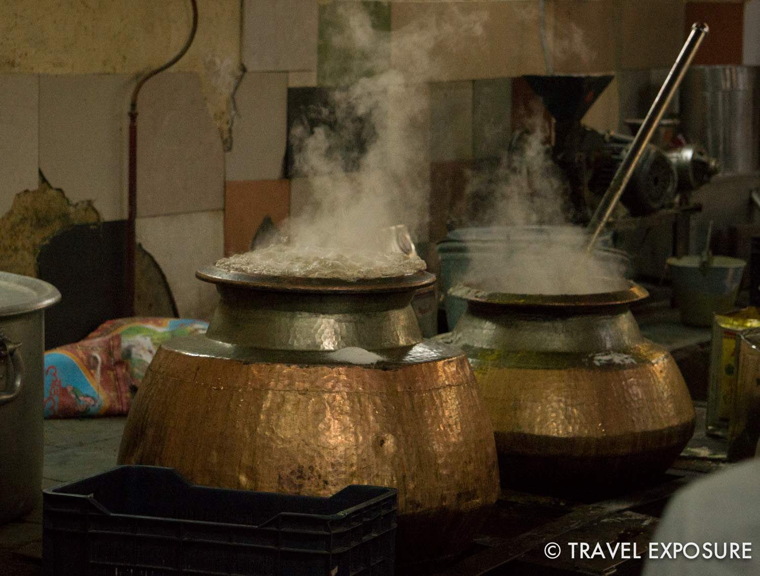 Inside the community kitchen at the   Sikh temple Gurdwara SisGanj in Delhi