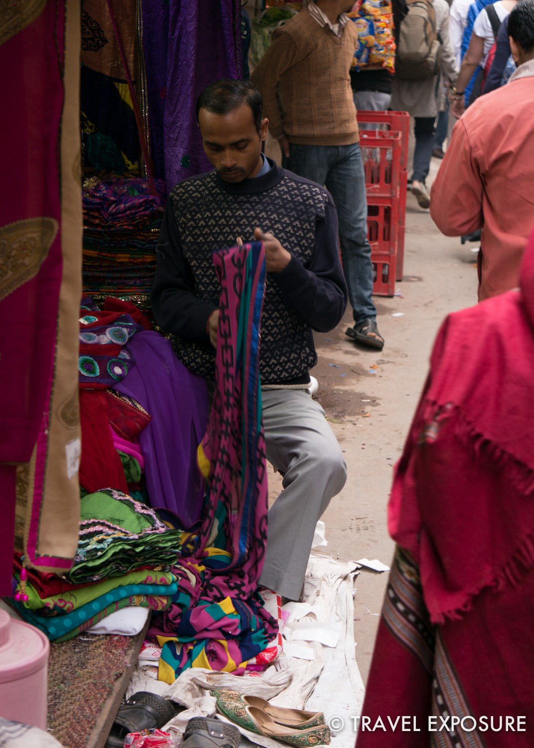 Walking around Old Delhi