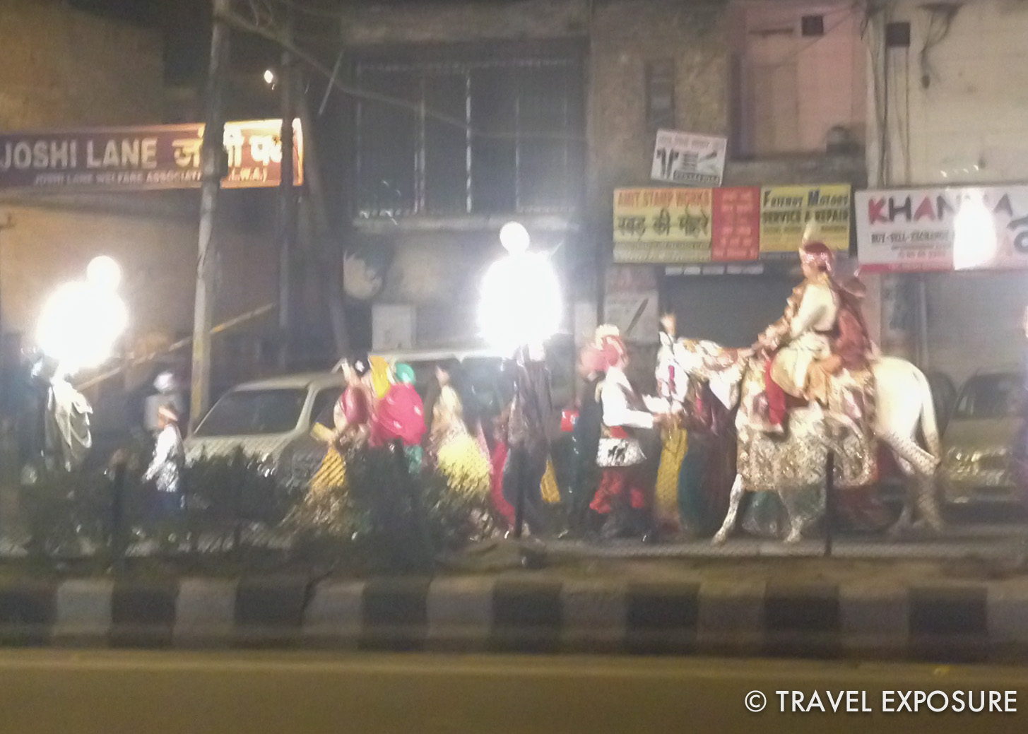Wedding procession in Delhi