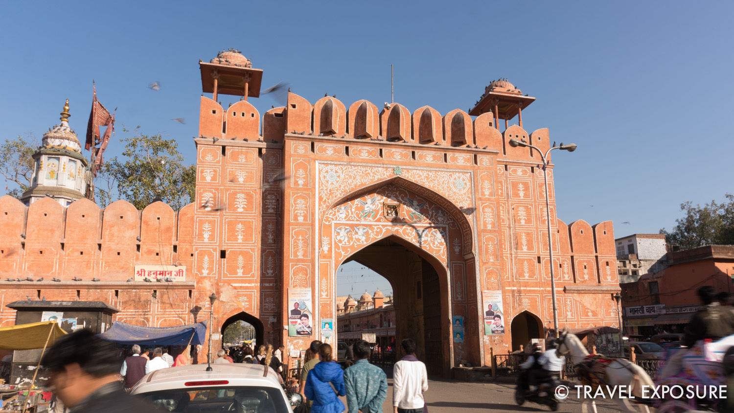 One of seven gates into Jaipur, part of the old city wall built in 1727