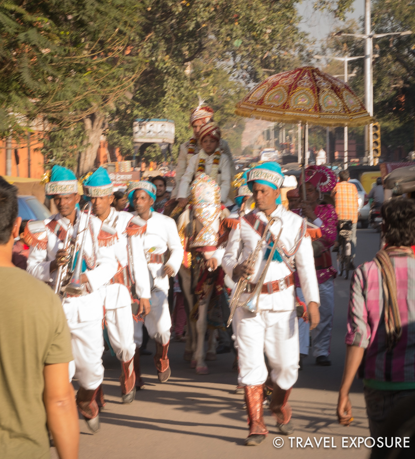 Wedding procession in Jaipur