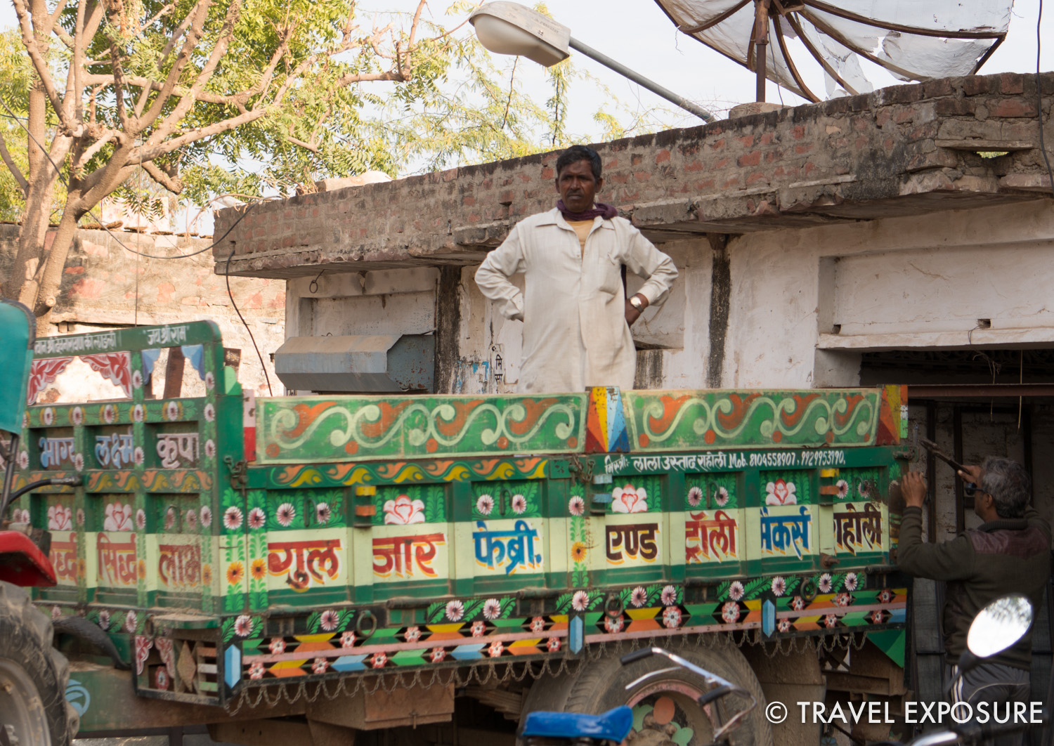 Decorated truck in  Tordi Sagar village