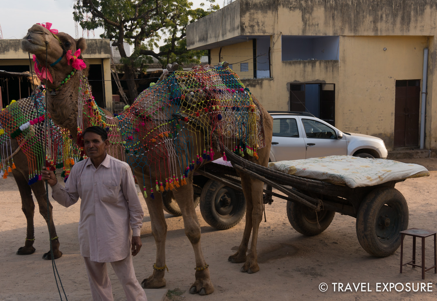 Camel ride in  Tordi Sagar village