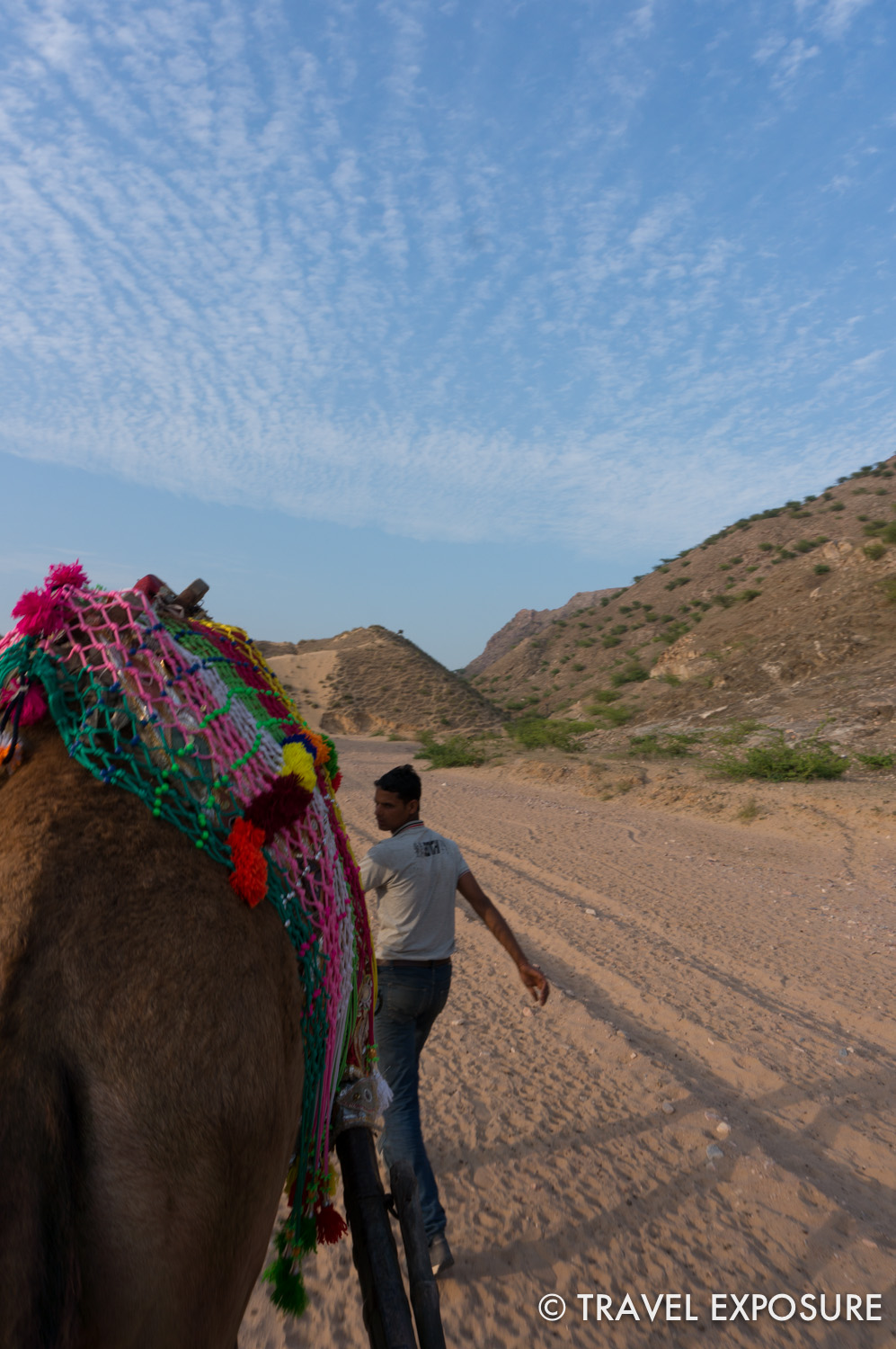 Camel cart ride in  Tordi Sagar village
