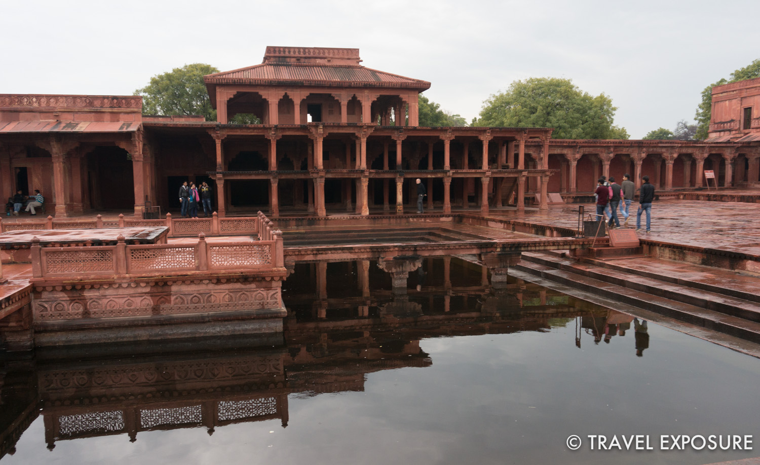 At Fatehpur Sikri city, the now deserted former capital of the Mughals