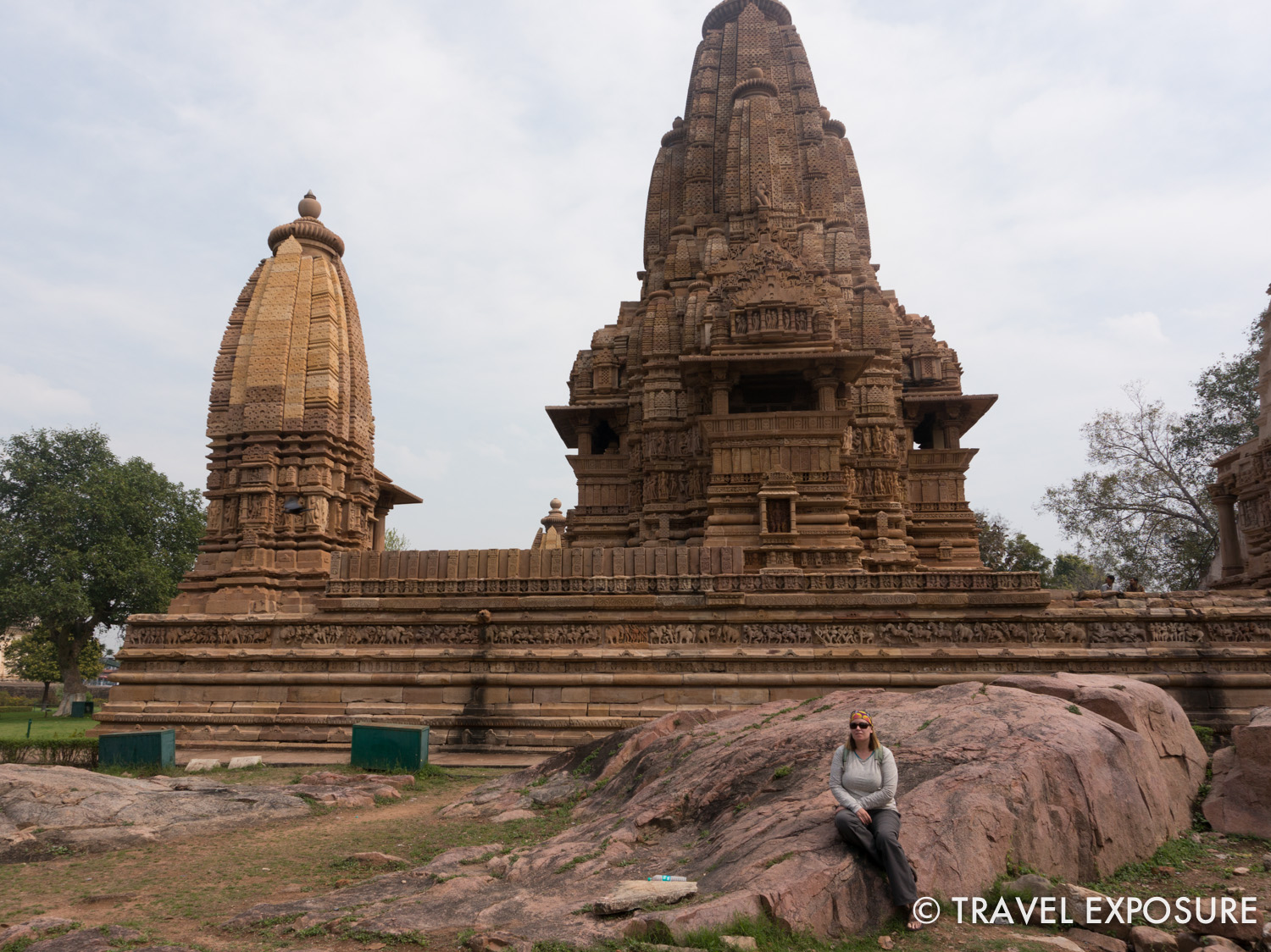 The   Hindu and Jain   temples at Khajuraho. Most were built between 950 and 1050. They are beautifully   decorated   and   famous for their erotic sculptures depicting scenes from the Kama Sutra.