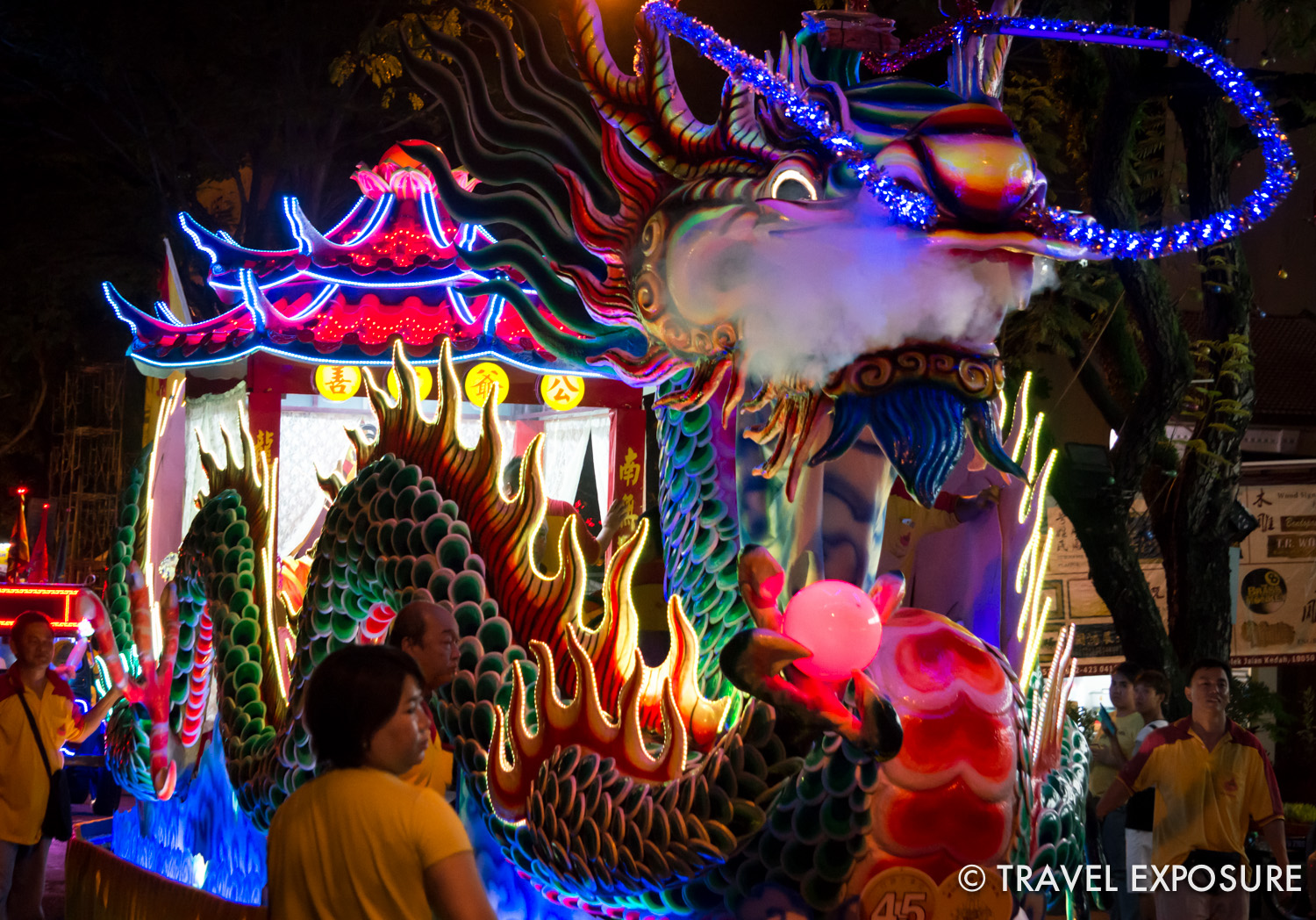 One of the floats we saw at Twa Peh Kong's Procession of Poh Hock Seah.