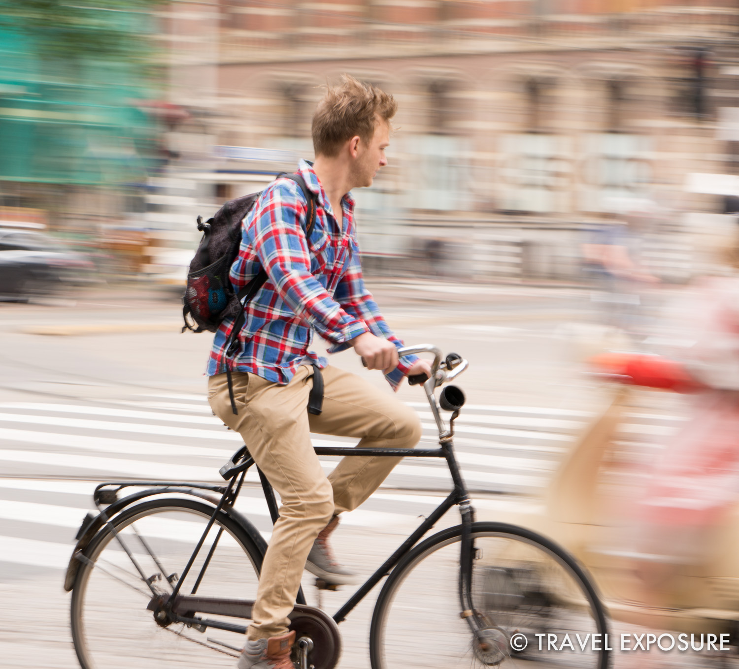 It seems cyclists have the right of way – whizzing every which way around you.There are bike paths everywhere – even special streetlights for cyclists.