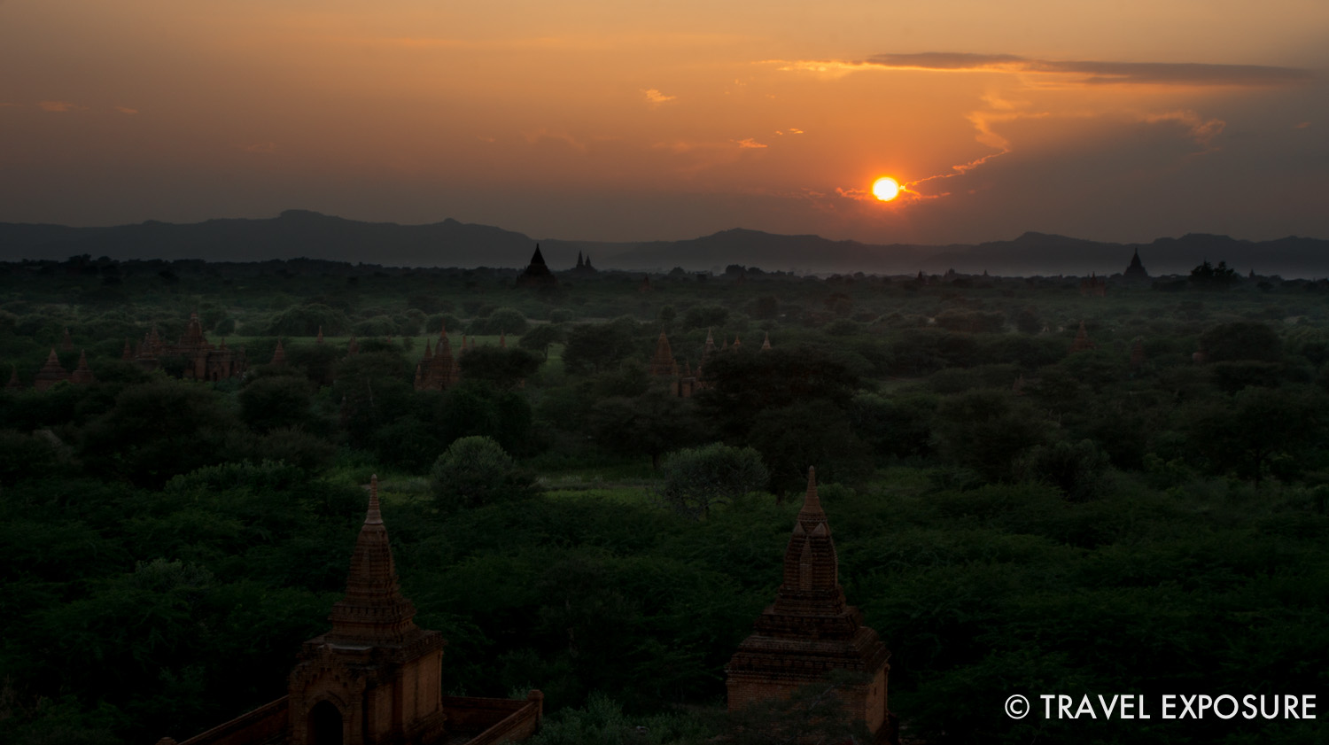 WEEK OF OCTOBER 20 The sun sets in Bagan, Myanmar, home to the largest concentration of Buddhist temples, pagodas, stupas and ruins in the world.